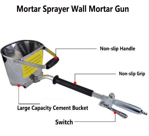 Schnelle Effiziente Mörtel Sprayer Wall Mörtel | Stuck schaufel | Gips Trichter | Trichter Schöpfen | Zement Spray | Luft stuck sprayer