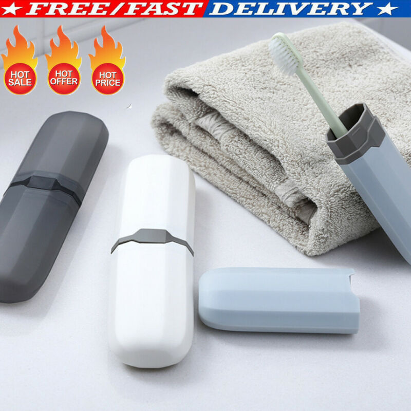 Portable Cup Travel Wheat Straw Toothpaste Case Toothbrush Holder Storage Box