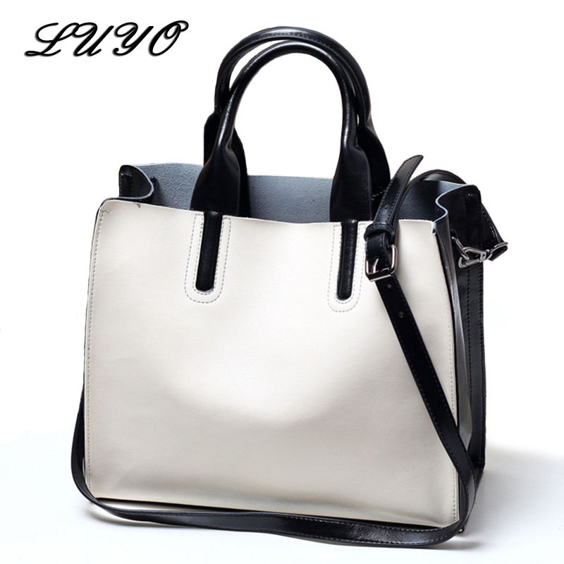 Real Genuine Leather Luxury Handbags Women Bags Designer Brand Natural Cowhide Women Shoulder Messenger Bag Female Elegant Tote qiaobao 100% genuine leather women s messenger bags first layer of cowhide crossbody bags female designer shoulder tote bag