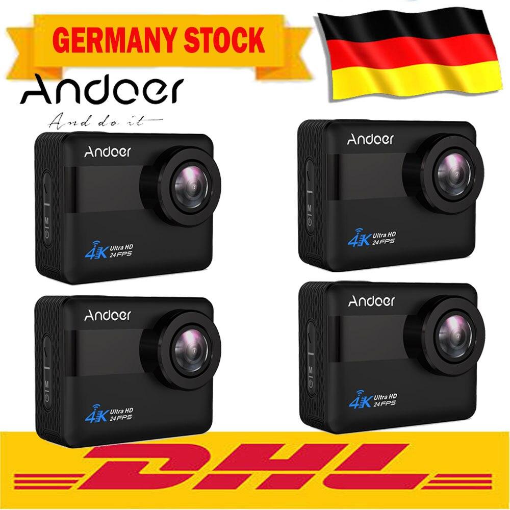 Andoer An1 Sport Action Kamera 4 Karat Wifi 1080 P 20mp Novatek 96660 Chipset 2,31 Zoll Touchscreen Externes Mikrofon Sprachaufforderung Unterhaltungselektronik