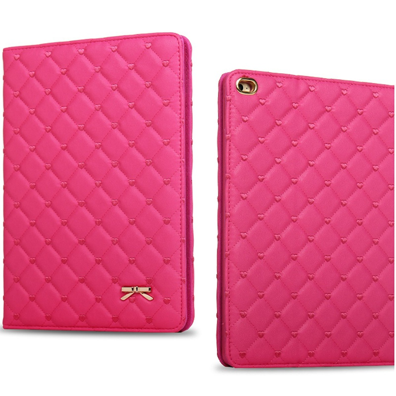 Fashion Bowknot Soft PU Leather Smart Case Stand Cover for Apple For iPad2 3 4 New Tablet Cover Case For iPad 9.7inch For Women