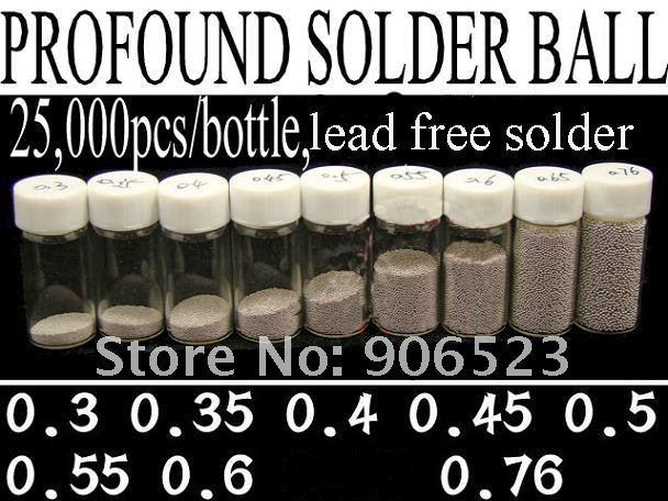 free shipping 8 Bottles completely set 25k bottle lead free solder balls