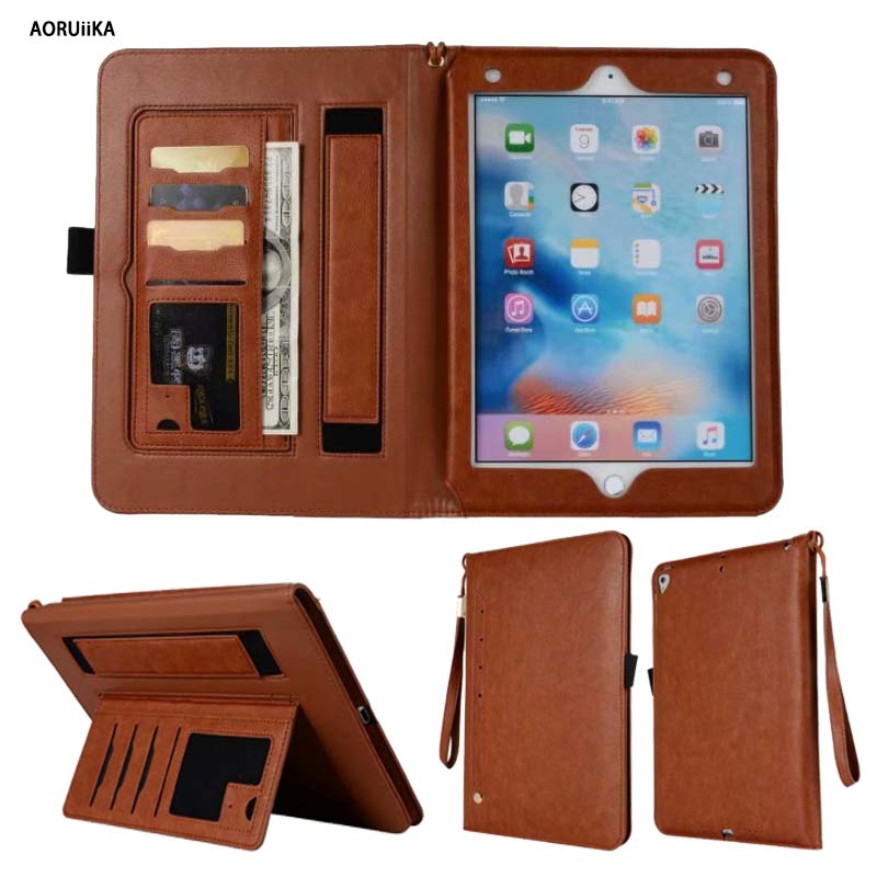 Retro Vintage PU Leather Smart Case Cover For New iPad 9.7 2017 2018 5th 6th Generation Funda cases A1822 A1954 Stand Shell for ipad 5th 6th generation case tablet cover for apple ipad air air2 case pu leather stand cases for ipad 5 ipad 6 cover funda