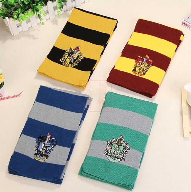 Hot 175cm Harri Potter Scarf Cosplay Costume Gryffindor Slytherin Ravenclaw Hufflepuff Cotton Scarf for For Kids Halloween Gift cotton hogwarts harri cosplay potter toys college gryffindor slytherin baseball hat summer cap hip hop magic hats toys for child