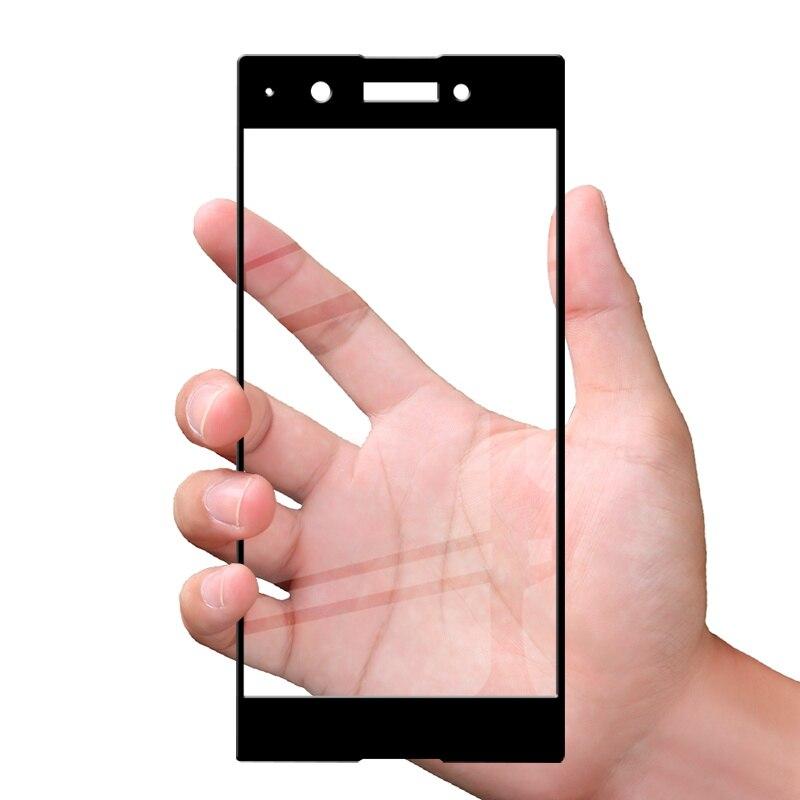 Uppbo 3D Protective Glass For Sony Xperia XA1 Plus Tempered Glass Sony Xperia XZ1 Compact Mini XZ Premium X Screen Protector