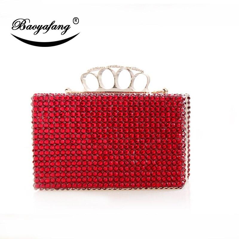 Zapatos de boda de cristal rojo BaoYaFang con bolsas a juego para mujer 8 cm/10 cm/12 cm/14 cm zapatos de tacón fino para mujer-in Zapatos de tacón de mujer from zapatos    3