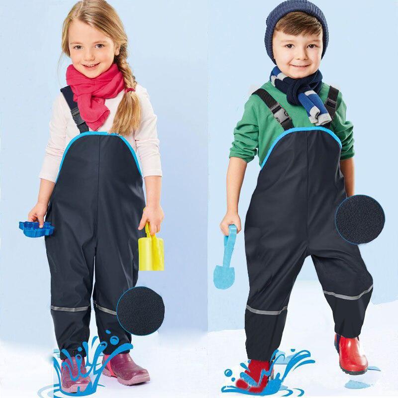 Mioigee 2018 Children Waterproof Rain Pants New Brand Waterproof Overalls 3-8Y Baby Boys Girls Overalls Fashion Kids Overalls