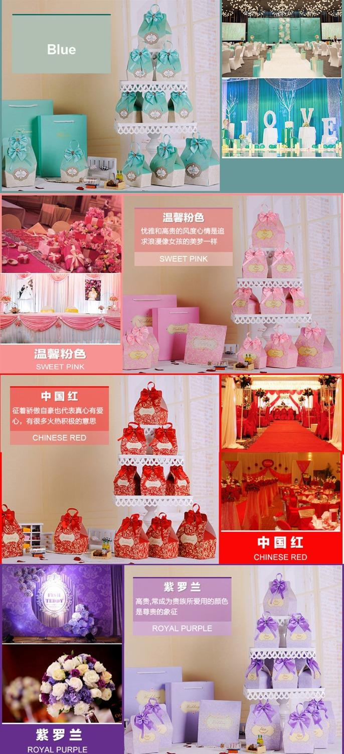 50pcs Candy Boxes Party Favors Wedding Box Sweets Party Favour Baby ...