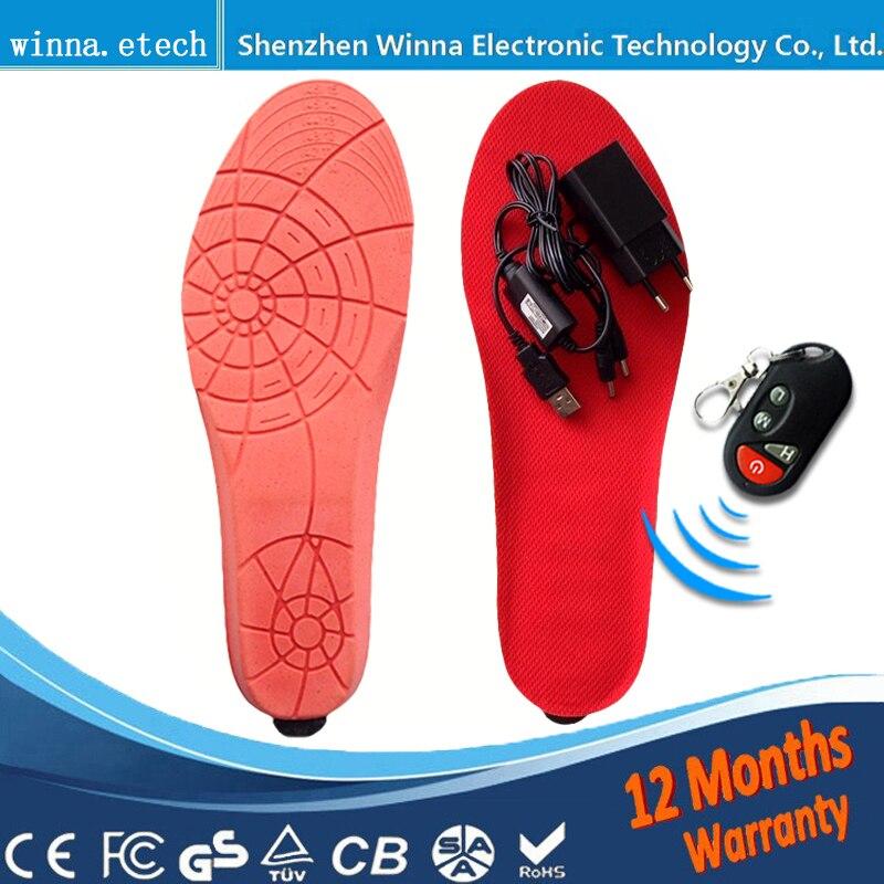 Winter Heizsohlen elektrische Batterie Schuhe halten die Füße warm Powered