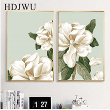 Morden Art Home Decor Canvas Painting Hand-painted Flower Printing Wall Poster for Living Room  AJ0051