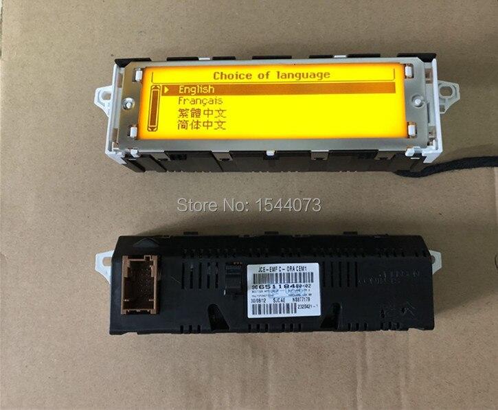 D'origine Qualité Jaune Écran USB + Double-zone Air Bluetooth Affichage moniteur 12 Broches pour Peugeot 307 407 408 citroen C4 C5