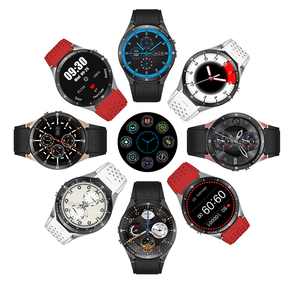 6 Montre intelligente 3G Android 7.0 Smartwatch Bluetooth pour homme