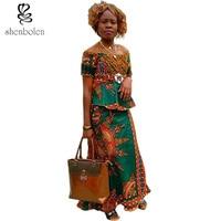 African Clothes For Women Shirt Skirt Cotton Set Women Dashiki Print Batik fabric Cloth Traditional clothing