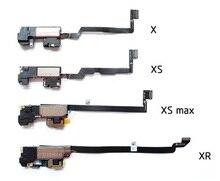 سماعة أذن من قطعة واحدة لهاتف آيفون X / XS / XSM Max XR XSMax 11 11PRO MAX مع مستشعر القرب كابل مرن