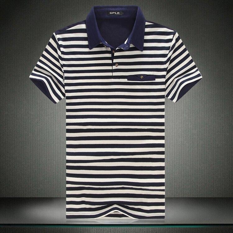 6946287819 2017 nueva moda rayas Camiseta Hombre verano manga corta T Camisas ropa  casual Tops multicolor rayas Camisetas Tees más tamaño