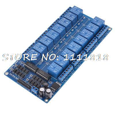 16-Channel 12V Relay Module Board w LM2576 Power + Optocoupler Protection Blue cm300dy 12 module