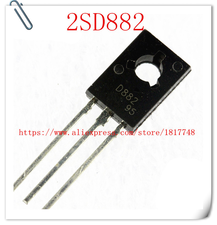 100pcs/lot D882 2SD882 NPN  3A 30V  TO-126 Medium Power Transistors / Transistors