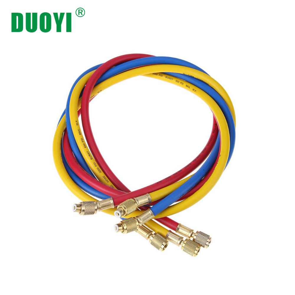 90cm 150cm Refrigeration Charging Hoses Car Air Condition Heat A/C Tube Fittings Refrigerators Repair Inspection Parts For DY517