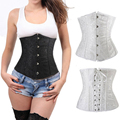 High-Class Lace up Waist  Plastic Steel Boned Underbust Corset Top Dress