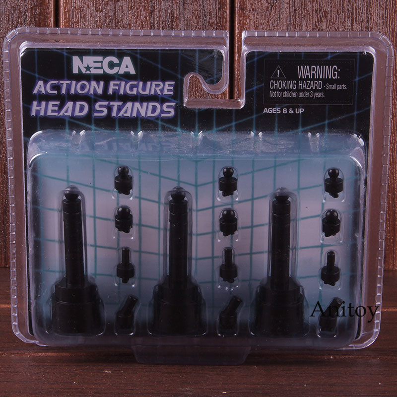 "NECA Action Figure Head Stands Accessories 6-8"" Scale Display Set 3-Pack 1"