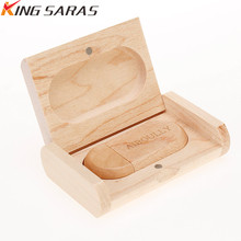 new Bamboo USB flash drive 128gb oval wooden memory stick 2.0 4GB 8GB 16GB pen 32GB 64GB Pendrive wedding gift custom logo