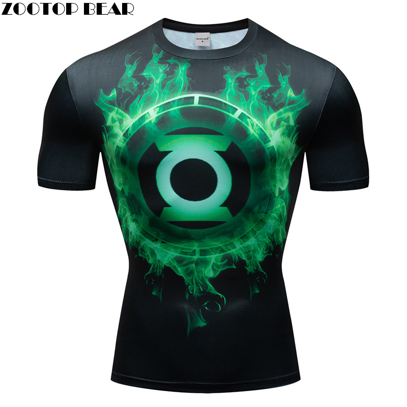 Superhero 3D t shirt Men Compression Short Sleeve T-shirt de Gymnas Quick Dry Top Bodybuilding Fitness Tshirt Crossfit Homme Tee