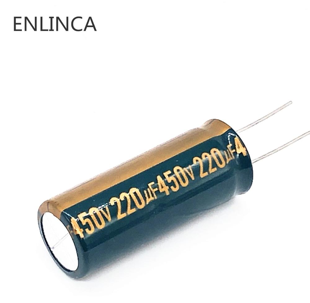 1pcs/lot 450v 220UF High Frequency Low Impedance 450v220UF Aluminum Electrolytic Capacitor Size 18*50MM 20% RB92A 20%