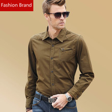 New 2016 Spring Autumn Cotton England Style Shirts High Quality Mens Fashion  Shirt,Casual Men Slim Fit  Shirts Lavish Tastes