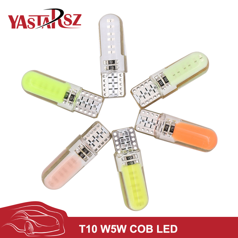 NEW T10 194 2825 WY5W W5W COB LED Silica gel Waterproof Wedge Light Car marker light reading dome Lamp Auto parking bulbs 12V ювелирное изделие 01b710393