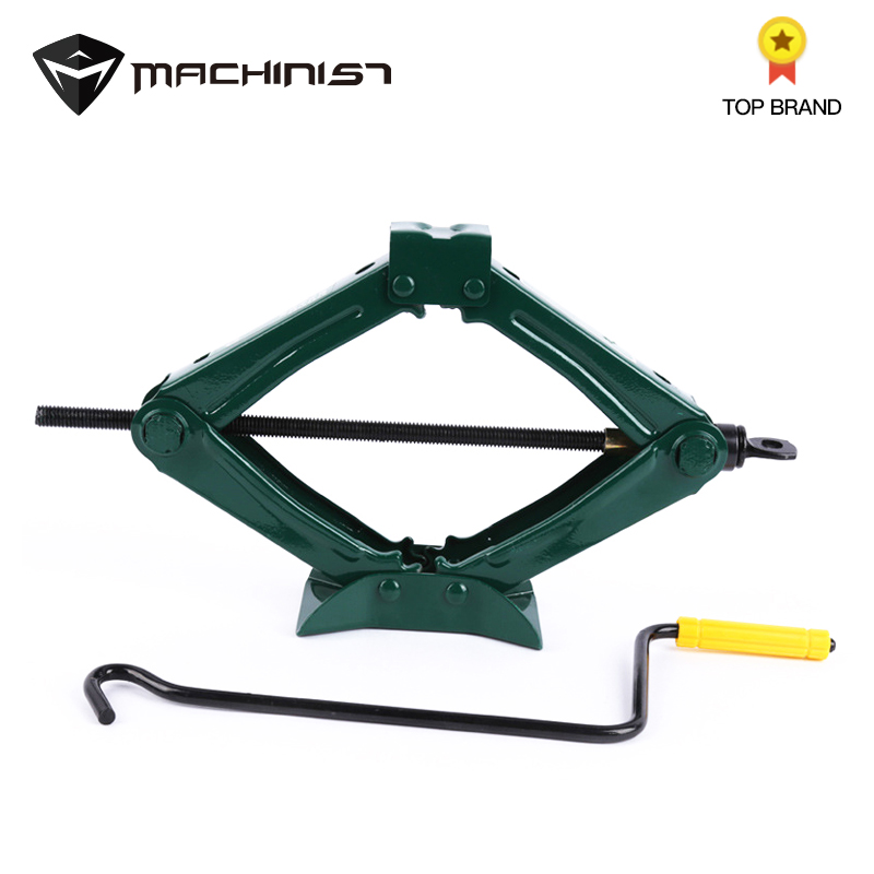 1pc 0.75Ton Car Foldable Folding Handle Scissor Jack Car Truck General Jack Top Tyre Tool