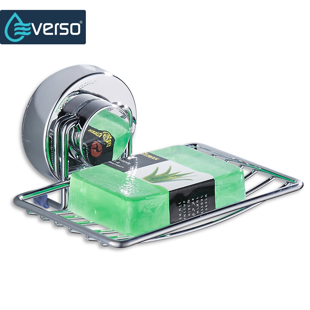 все цены на EVERSO Stainless Steel Strong Suction cup Bathroom Soap Holder Shower Soap Dish Holder Shower Tray Bathroom Accessories