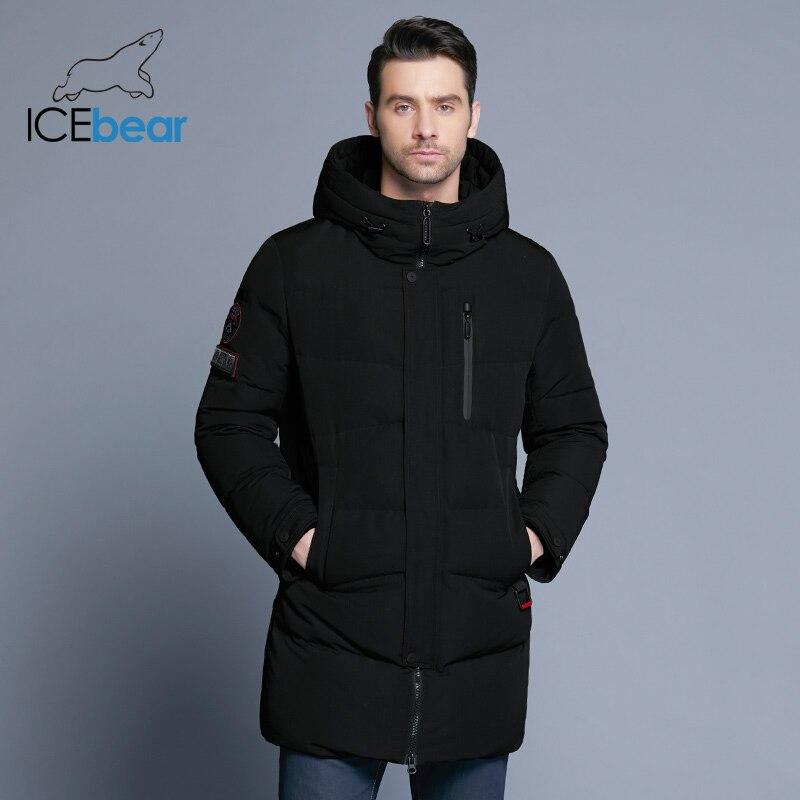 ICEbear 2019 offre spéciale hiver chaud coupe-vent capuche hommes veste chaud hommes Parkas haute qualité Parka mode décontracté manteau MWD18856D - 3