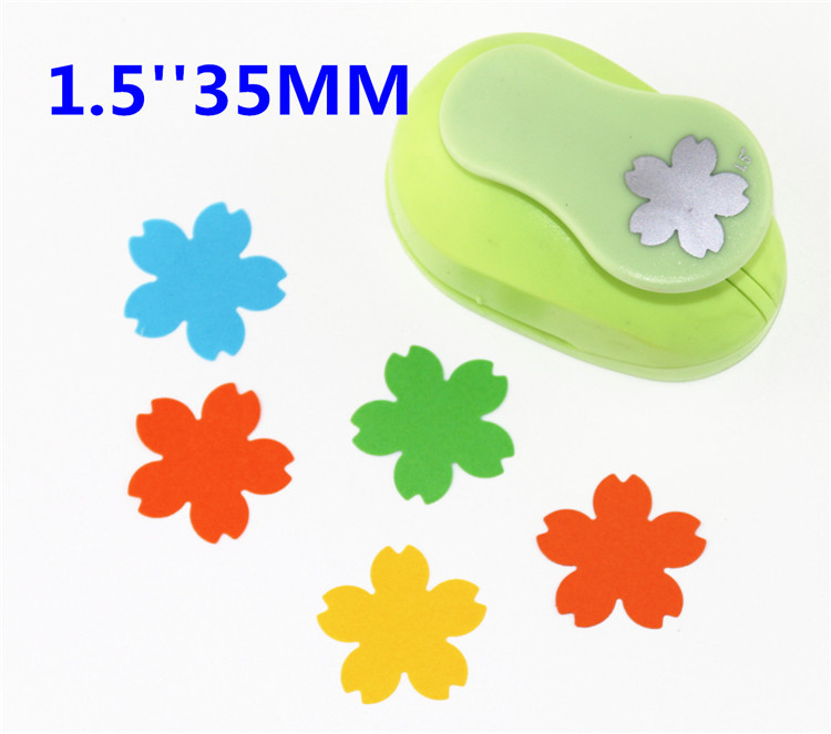 Free Ship Cherry Blossoms  Punch Paper Cutter Crafts Scrapbook Embossing Device Kid Hole Punches Cortador De Papel  S2934-8