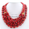 Hot Sale Red Coral Necklace Holiday Party Necklace Nigerian Beads Coral Jewelry Necklace Bridesmaid Gift Bridal Jewelry