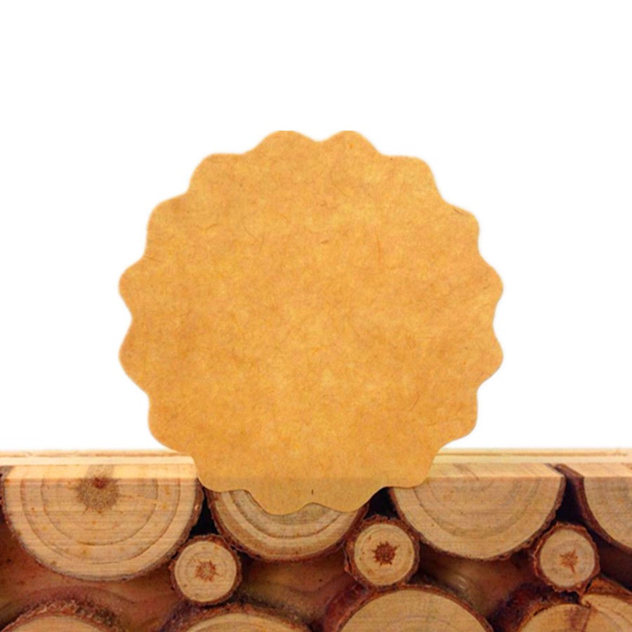 100pcs/lot New Vintage Round Flower Design Craft Blank DIY Sealing Sticker Funny Note Baking Decoration Christmas Kraft Label