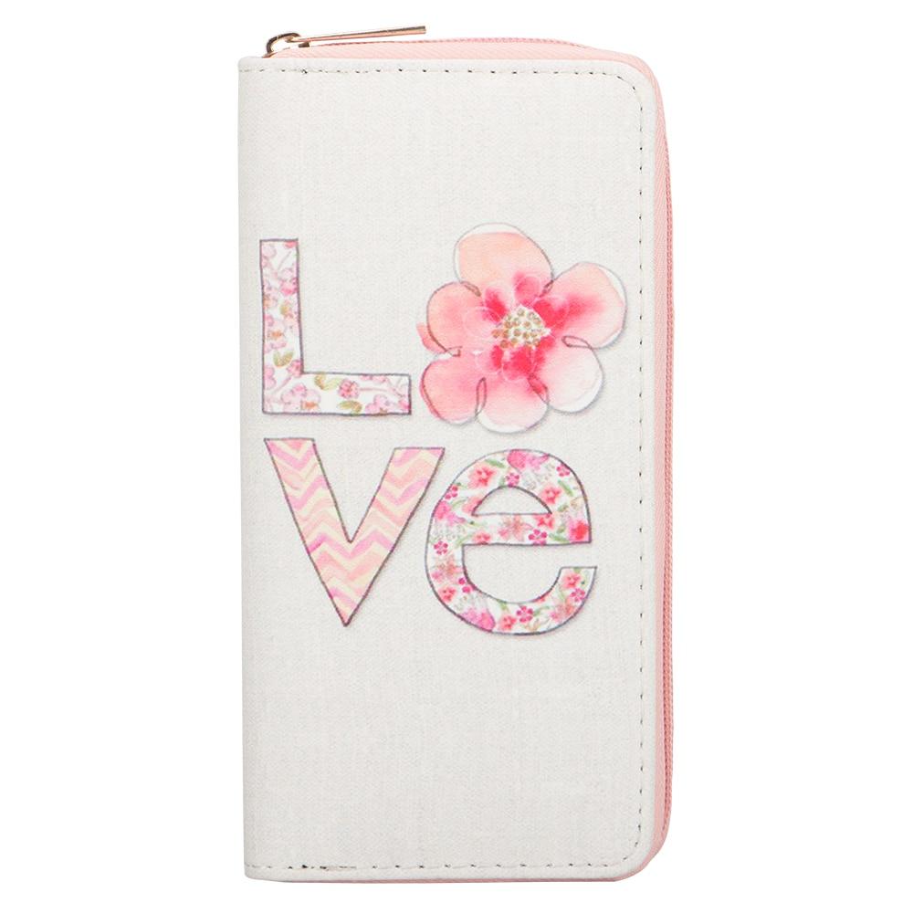 Sansarya 2018 New Fashion Big Love Flower Pattern Print Long Women Wallet Ladies Clutch PU Leather Casual Wallet Purse Girls finger print pu wallet