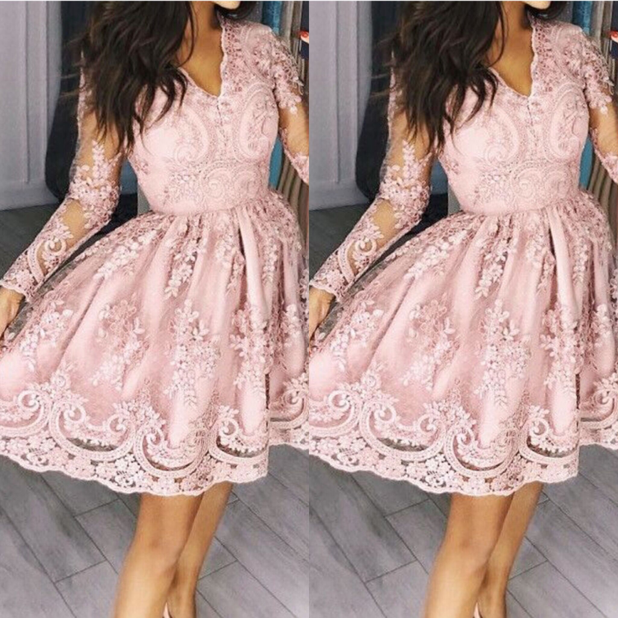 ZTVitality Women Dresses 2018 Hot Sale Pink Embroidery Fashi