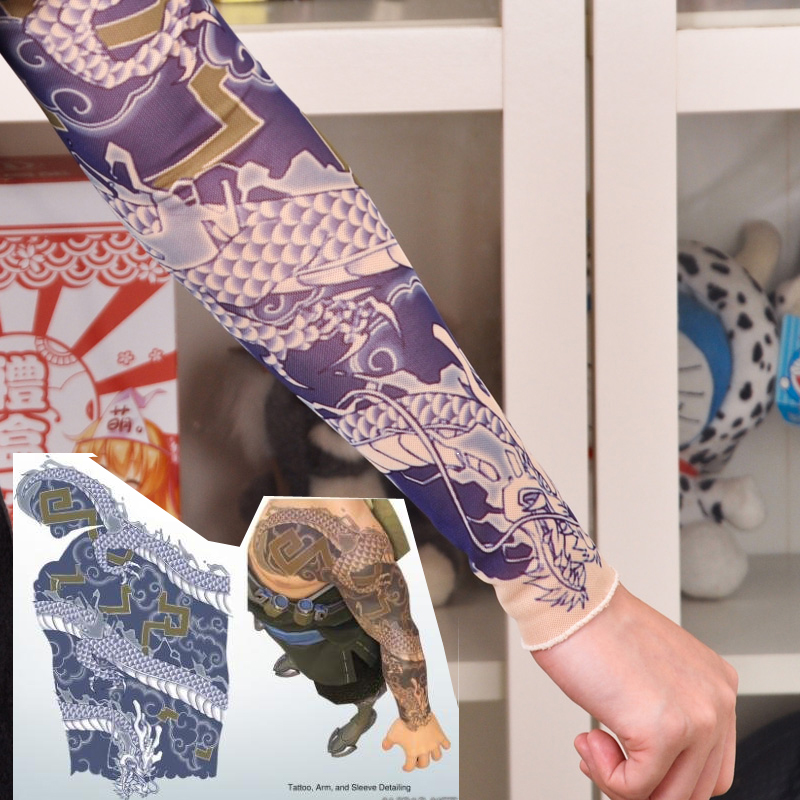 Popular tattoo sleeves costume buy cheap tattoo sleeves for Hanzo tattoo sleeve