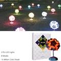 Nova luz da noite diy iq lâmpada criativo colorido origami lâmpada novelty bar decor presente do enigma para crianças mesa de cabeceira luz lâmpada