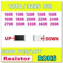 Оригинал 1210 J 5% 5000 шт. 100R 110R 120R 130R 150R 160R 180R 200R 220R 240R 270R 300R 330R 360R 390R 3225 резистор ОМ