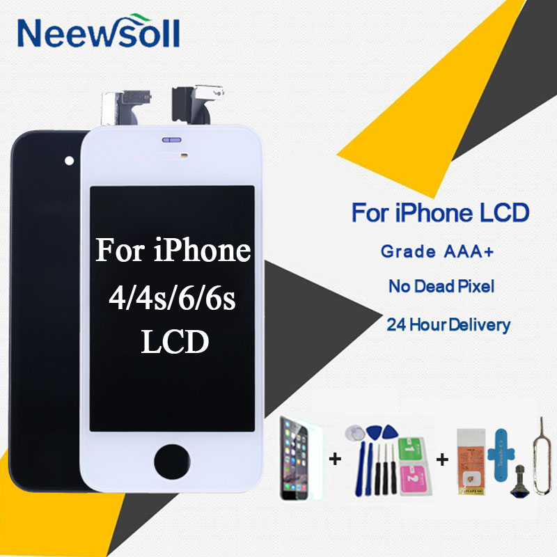 Grado AAA + LCD de pantalla para iPhone 6 4S 4 reemplazo de la pantalla buena 3D toque de calidad para el iPhone 6 6 S LCD