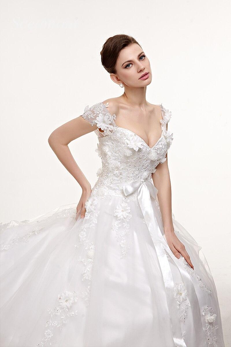 Brautkleider Brautkleid Ausschnitt Backless Hochzeit Schatz Appliques Ärmellose Kleid Ballkleid Avondjurk Pailletten Y4wzfqg4