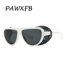 PAWXFB 2019 Vintage Steampunk Sunglasses Women Men Fashion Sun Glasses Classic Eyewear