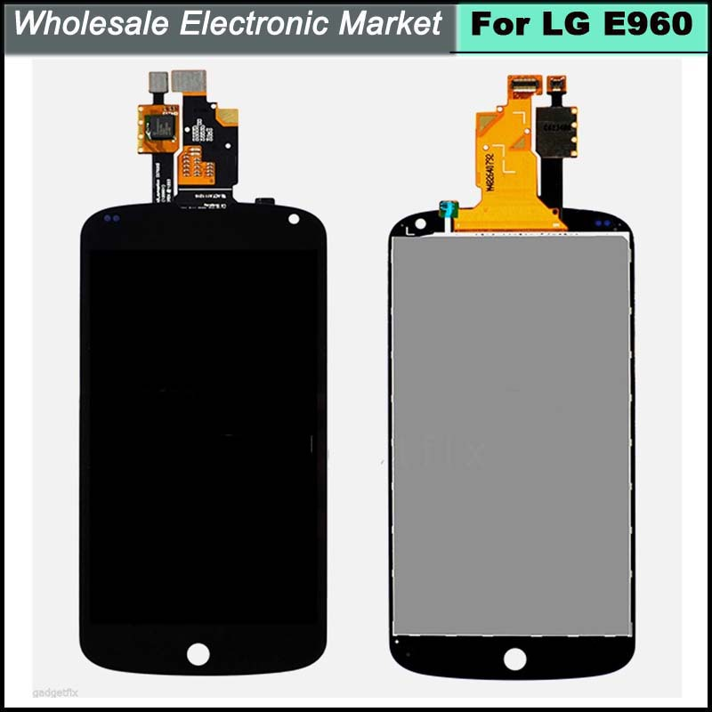 HK Free Shipping & Original Replacement LCD Display Touch Digitizer Screen Assembly For LG Nexus 4 E960 LCD Display