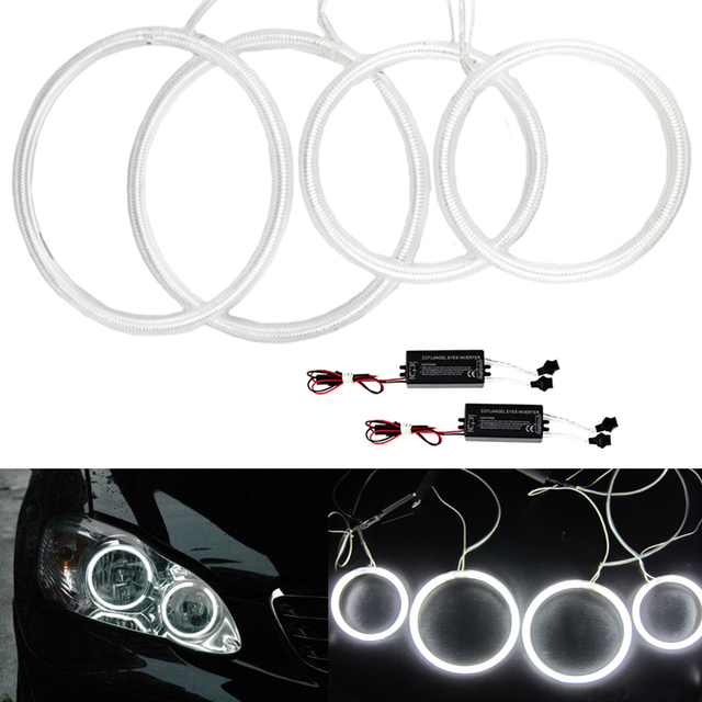 Super Bright Ccfl Led Angel Eyes Headlight For Toyota Corolla 2001 2004 Kit