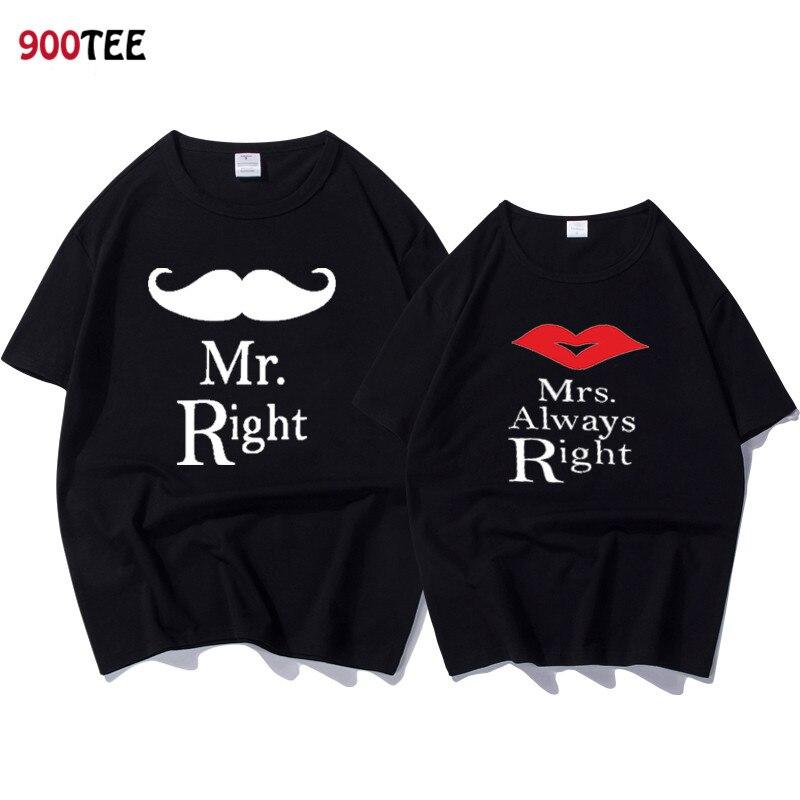 403f32da137 Couple T Shirt for Lovers Short Sleeve Funny T Shirt Female Print MRS Tops  2018 Summer