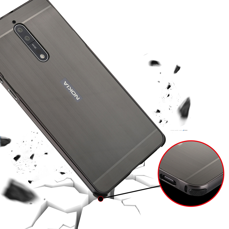 For Nokia 8 Case Luxury Aluminum Bumper Case For Nokia8 Brushed Metal Hard PC Back Cover For Nokia 8 Phone Bag Case 5 3 39 39 in Fitted Cases from Cellphones amp Telecommunications