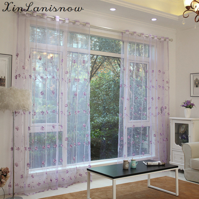 Modern Princess Room Luxury Embroidered Sheer Curtains Window Tulle Curtains  For Girls Living Room Bedroom Kitchen Part 55