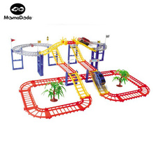 154pcs DIY Rail Car Toy Multilayer Railcar Kids Toys Th0mas Electric Train Track Toys With Retail Package Mini Educational Cars