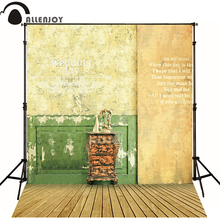 150*215cm(5ft*7ft) photography backdrops vestido inverno Nostalgic retro style wall wood floor